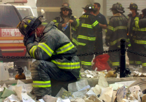 Praying Firefighter on 9/11